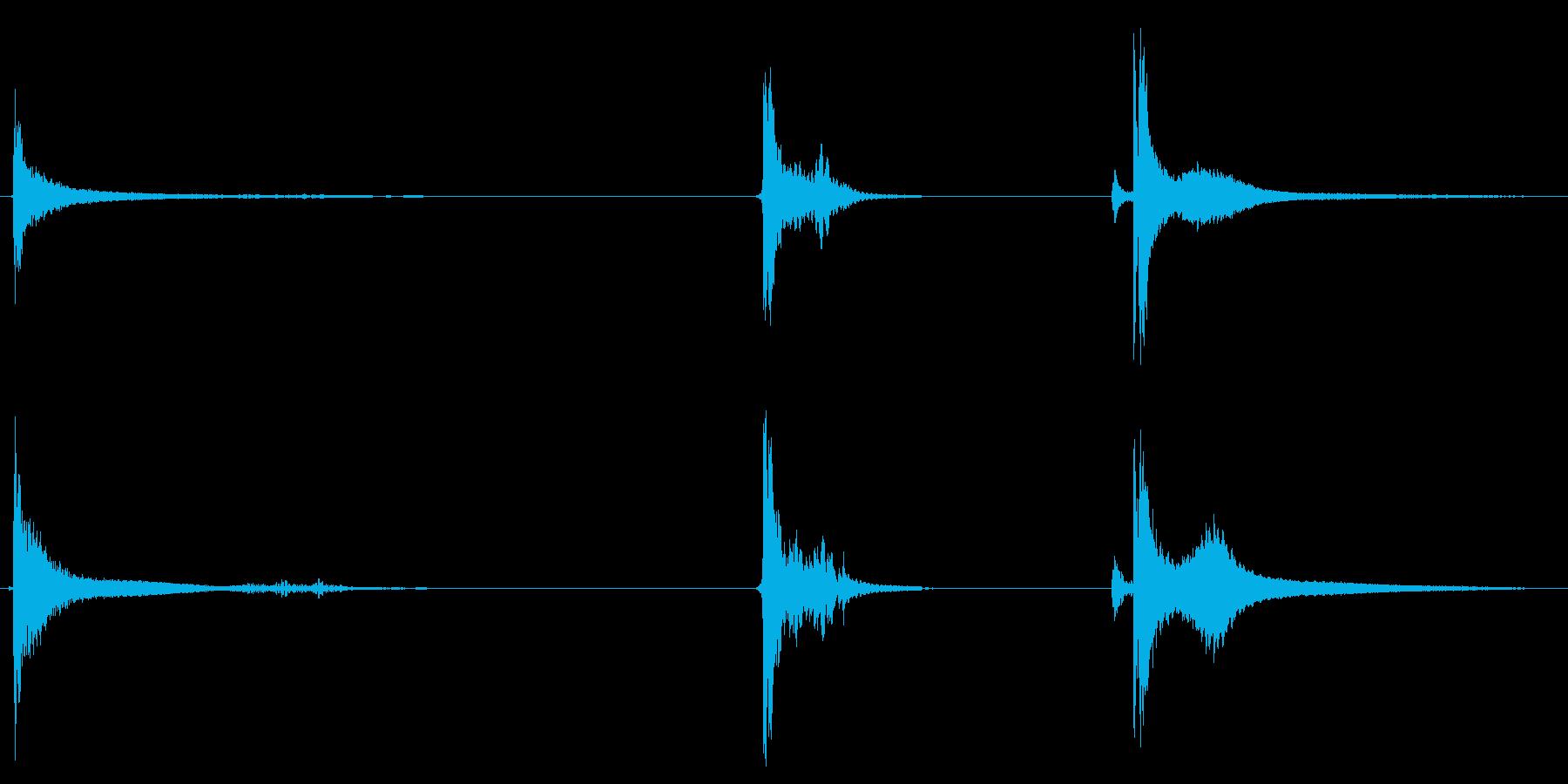 シャベル、メタル、ヒット、ヘビーx3の再生済みの波形