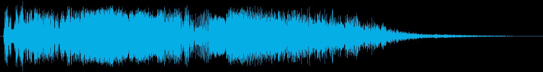 バックアップヒットの再生済みの波形