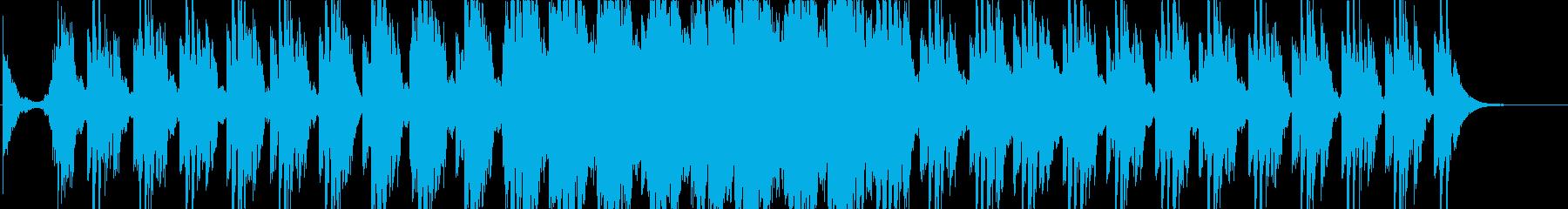 ハリウッド系の戦闘シーンの曲1の再生済みの波形