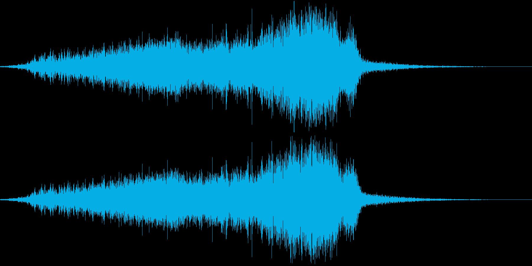 ヒュー・シュー(風を切る・光の集まる音)の再生済みの波形