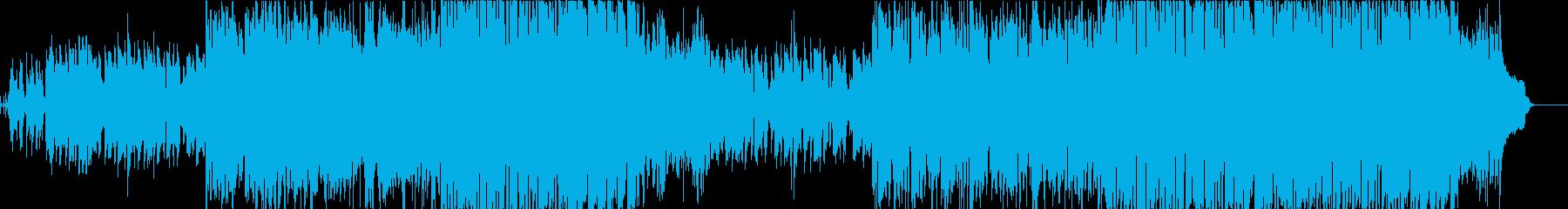 月のワルツ風のジャズワルツの曲の再生済みの波形