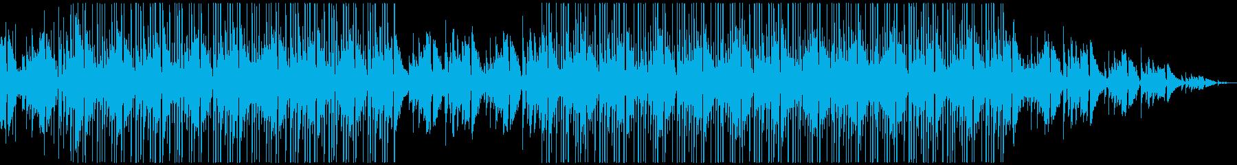 ジャジーなギターのチル系ヒップホップの再生済みの波形