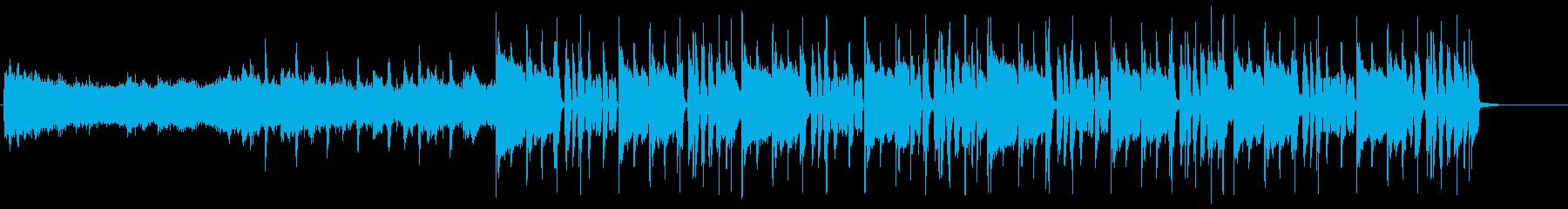淡々とループしている変則ビートの再生済みの波形
