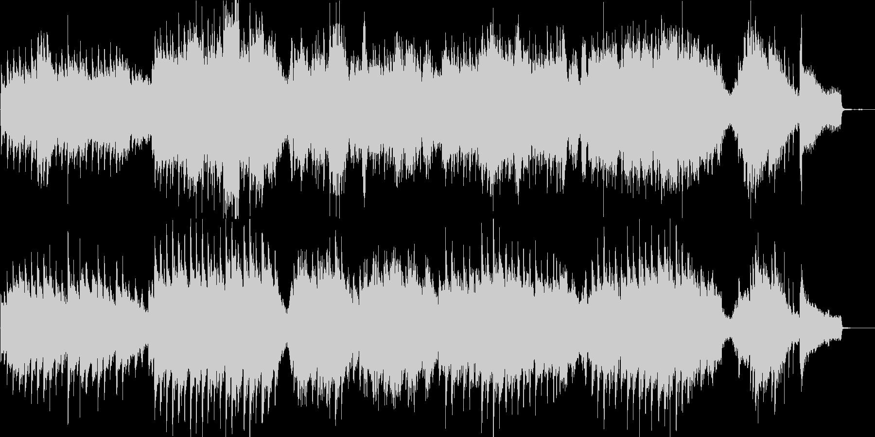 チェロとピアノの少し暗くて悲しげなBGMの未再生の波形