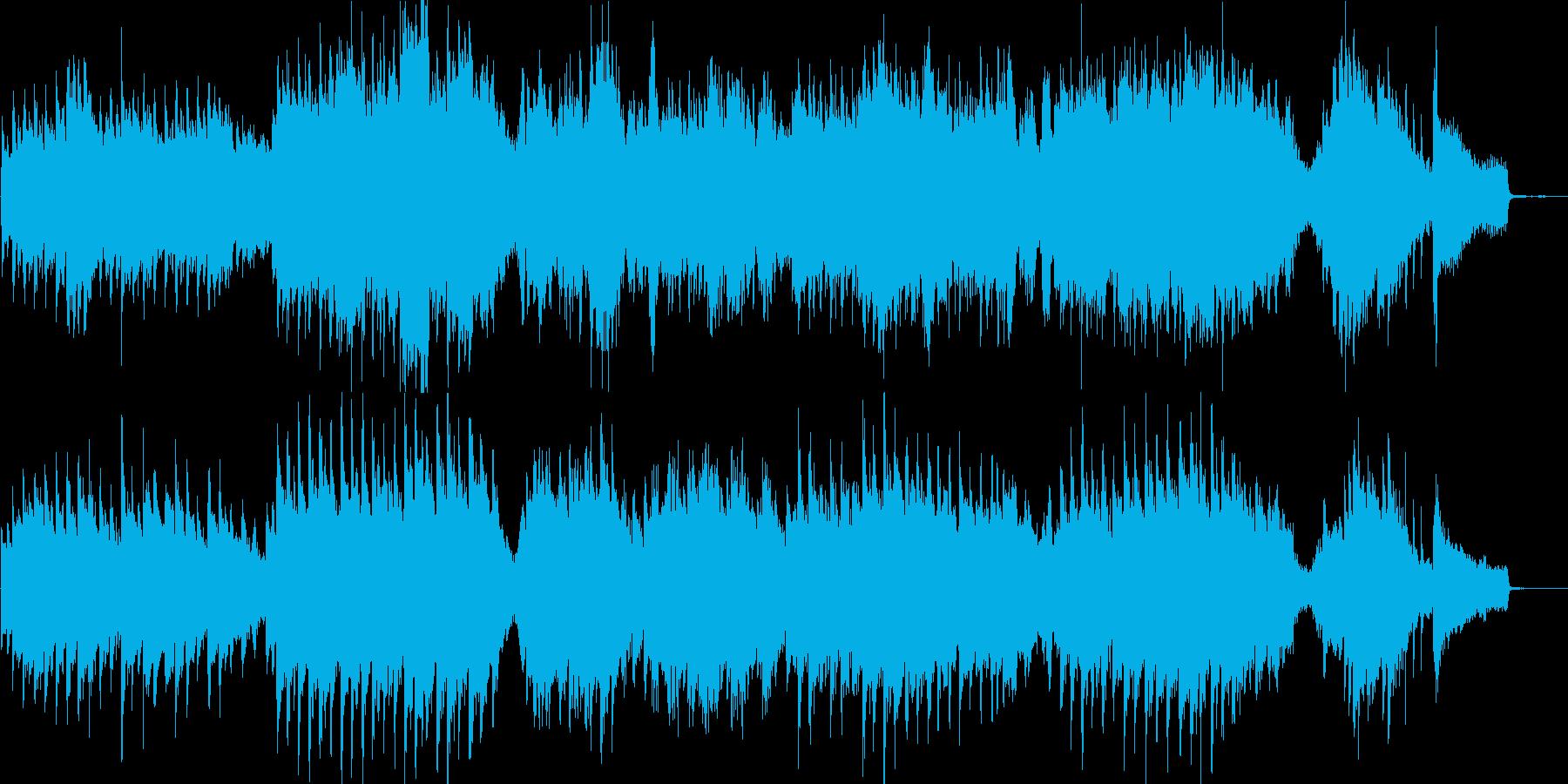 チェロとピアノの少し暗くて悲しげなBGMの再生済みの波形