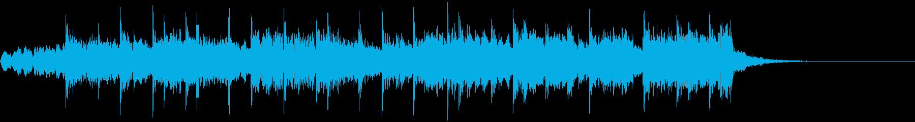 アコーディオンメロのかわいいジングルの再生済みの波形