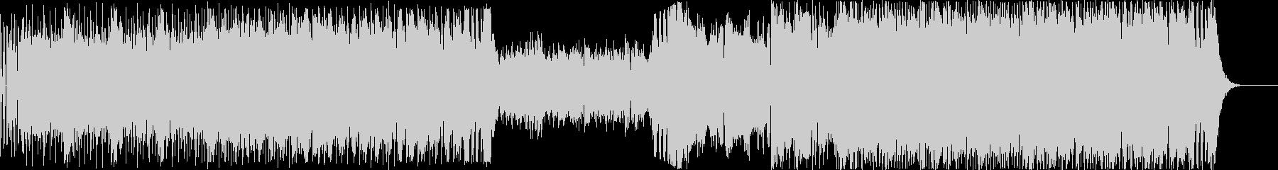 ゲームのバトル系サウンドの未再生の波形