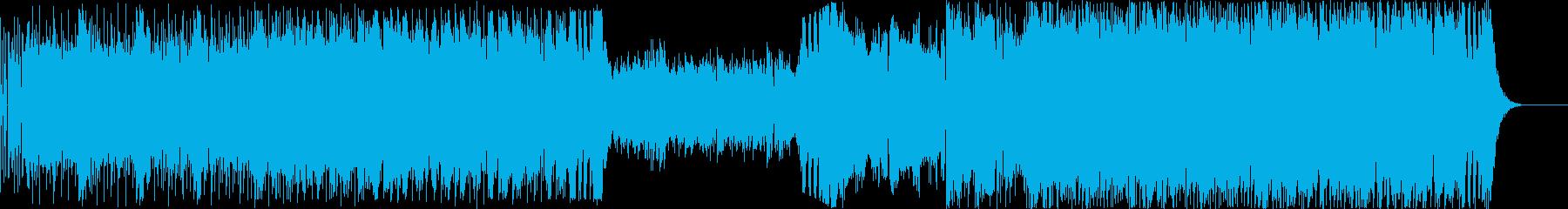 ゲームのバトル系サウンドの再生済みの波形