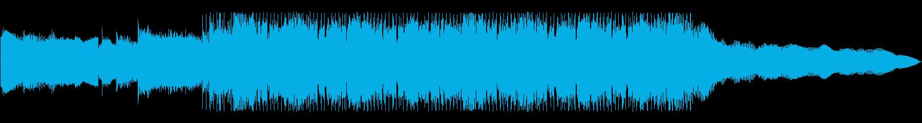 激しいロックのジングル(イントロ入り2)の再生済みの波形