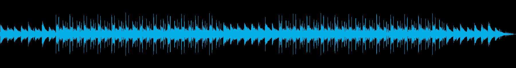 シンプルなLo-fiHipHop 雨音の再生済みの波形