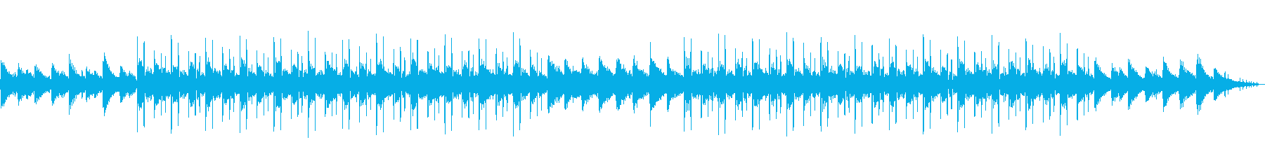 Simple Lo-fi Hip Hop rain sound's reproduced waveform