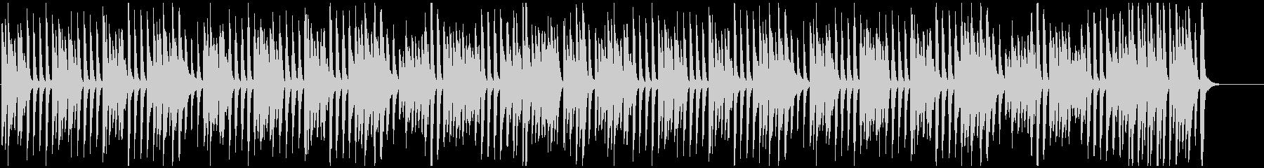 かわいい/ジャズ/ラグタイム風ピアノの未再生の波形