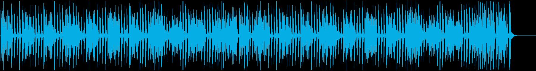 かわいい/ジャズ/ラグタイム風ピアノの再生済みの波形