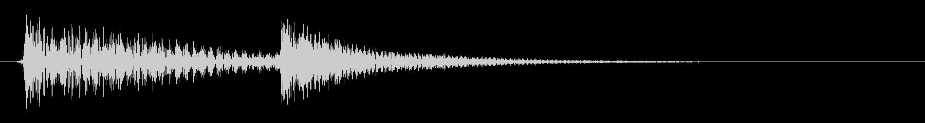 ポケ(滑稽さを助長する金属的な効果音)の未再生の波形