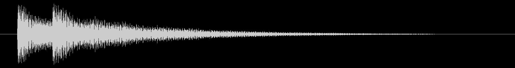 SF/ピコン↓/電子/決定音の未再生の波形