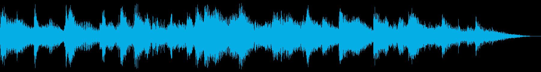 【ジングル】ゆったりとした中国風ジングルの再生済みの波形