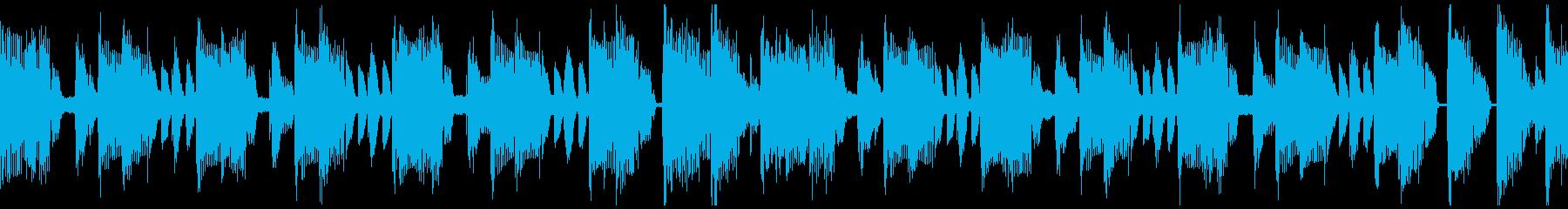 ふざけたような楽しい15秒ループの再生済みの波形