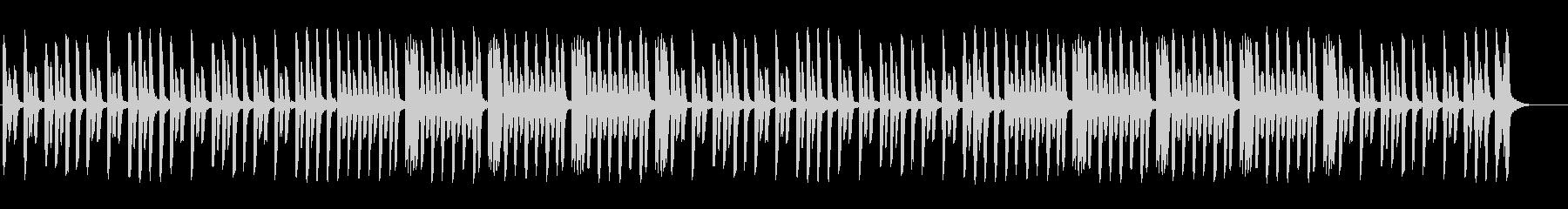 のんびりしたほのぼのピアノ曲の未再生の波形