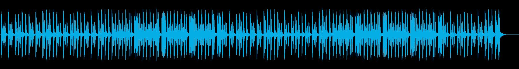 のんびりしたほのぼのピアノ曲の再生済みの波形