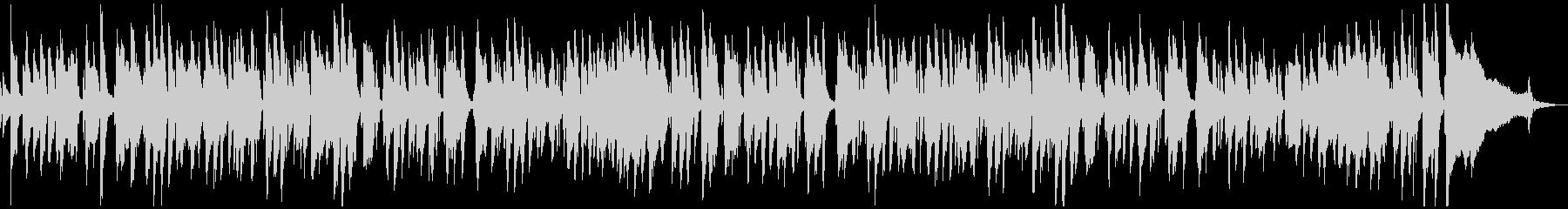 ピアノジャズのオシャレな「たなばたさま」の未再生の波形