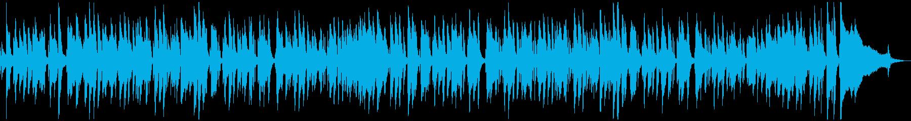 ピアノジャズのオシャレな「たなばたさま」の再生済みの波形