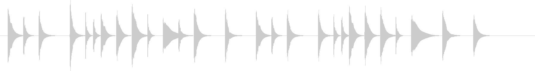 アニメ系ジングル_のんびり夏01の未再生の波形