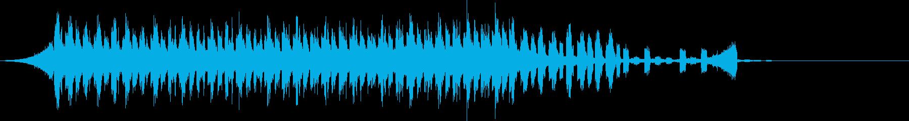 CM明るく爽快軽快ピアノポップジングルcの再生済みの波形