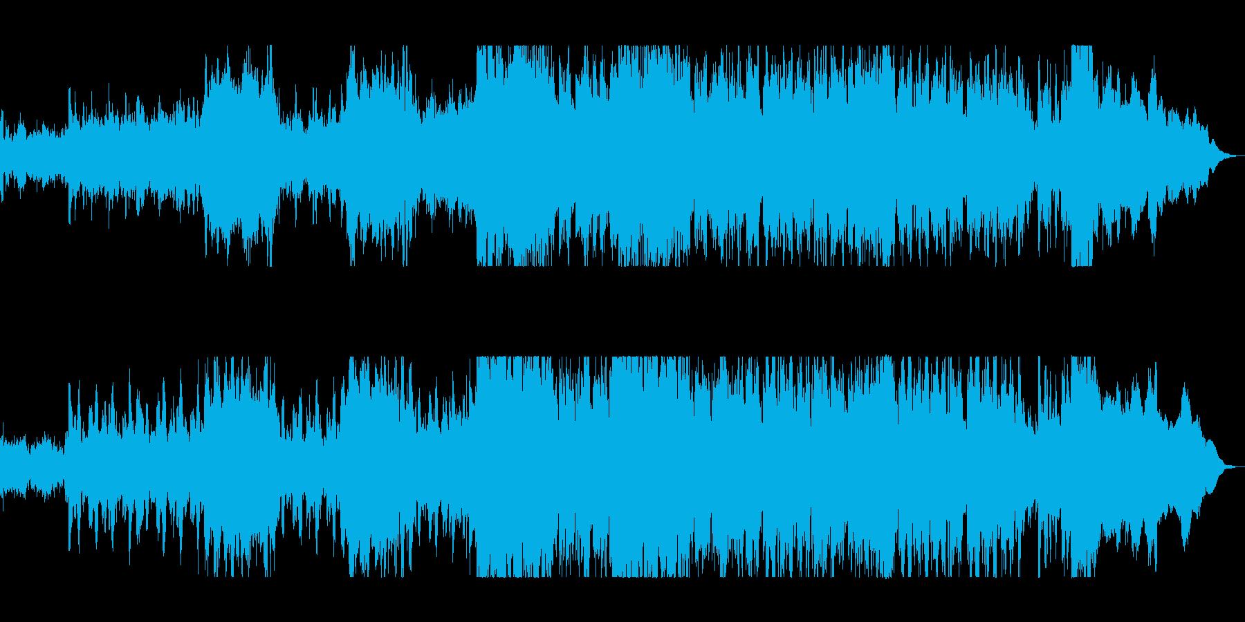 シリアスな弦楽器シンフォニーテクノの再生済みの波形