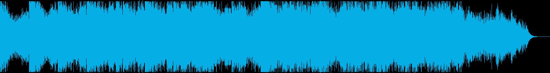 ゆったりした都会的なサウンドBGMの再生済みの波形