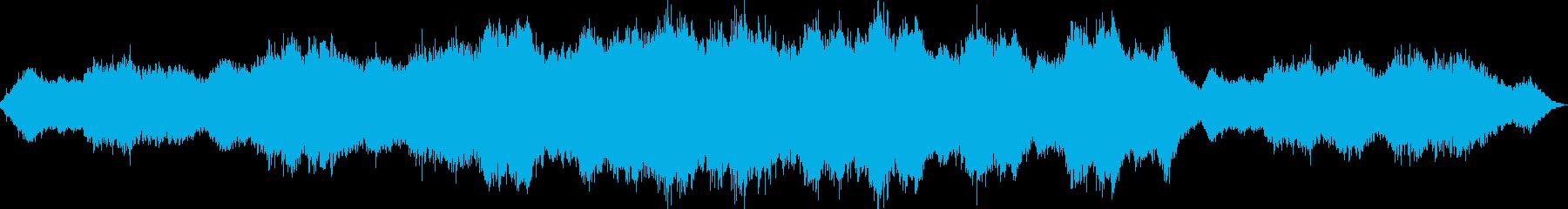 宇宙空間を想像させるアンビエントの再生済みの波形