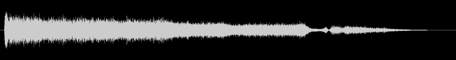 素材 ノイズジェットフォール03の未再生の波形