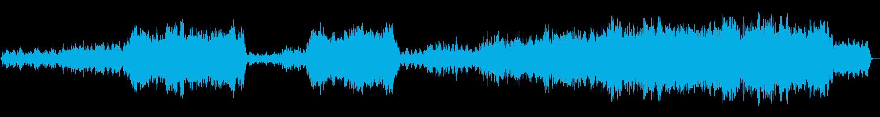 ピアノとオーケストの感動的なバラードの再生済みの波形