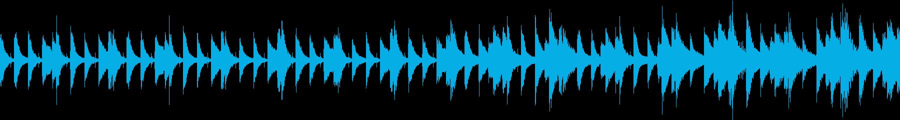 ピアノの軽快なステップの再生済みの波形