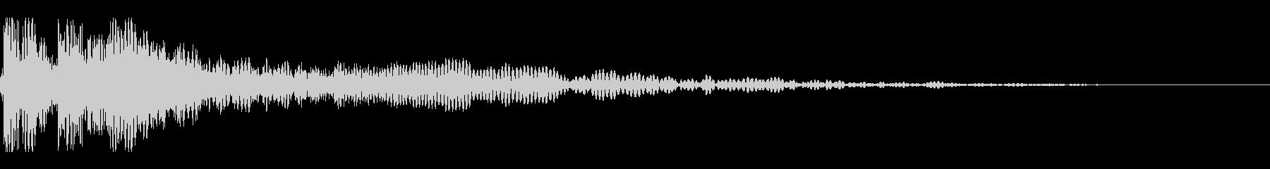 ドゥーン(敵が消滅する音)の未再生の波形