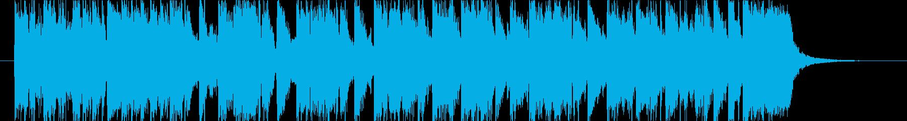 お洒落な雰囲気のニュース風オープニング曲の再生済みの波形