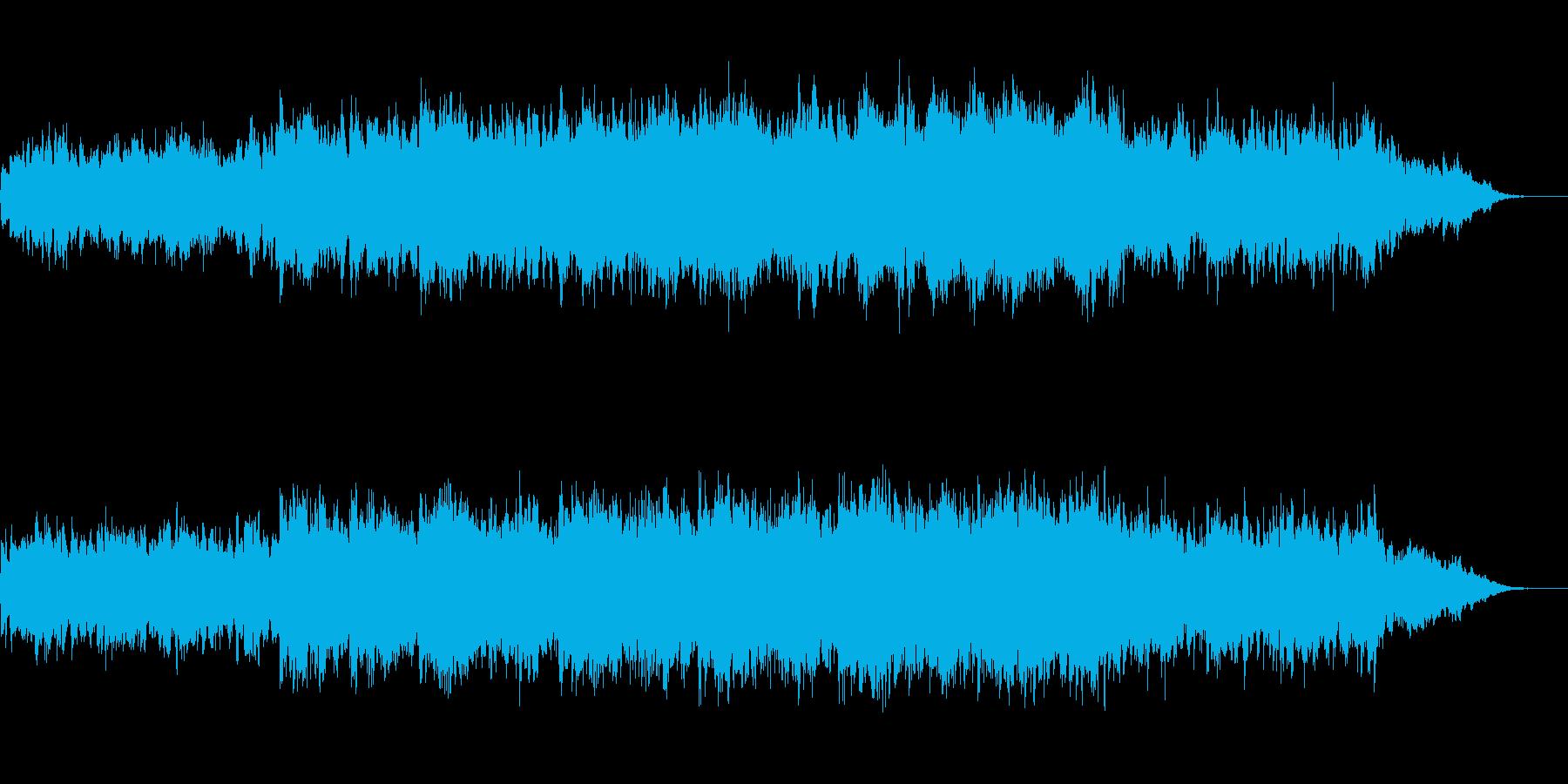 感動系、心に染み入るバラード系BGMの再生済みの波形