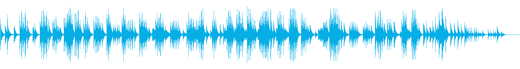 静寂な回顧の念を誘うレクイエム的BGMの再生済みの波形