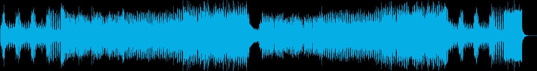 ピアノイントロ、キラキラしたJPOP風bの再生済みの波形
