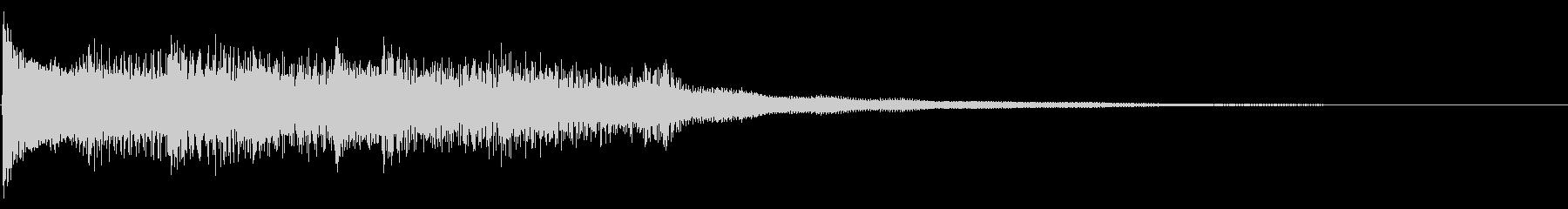 Youtube,CM等にピアノジングルの未再生の波形