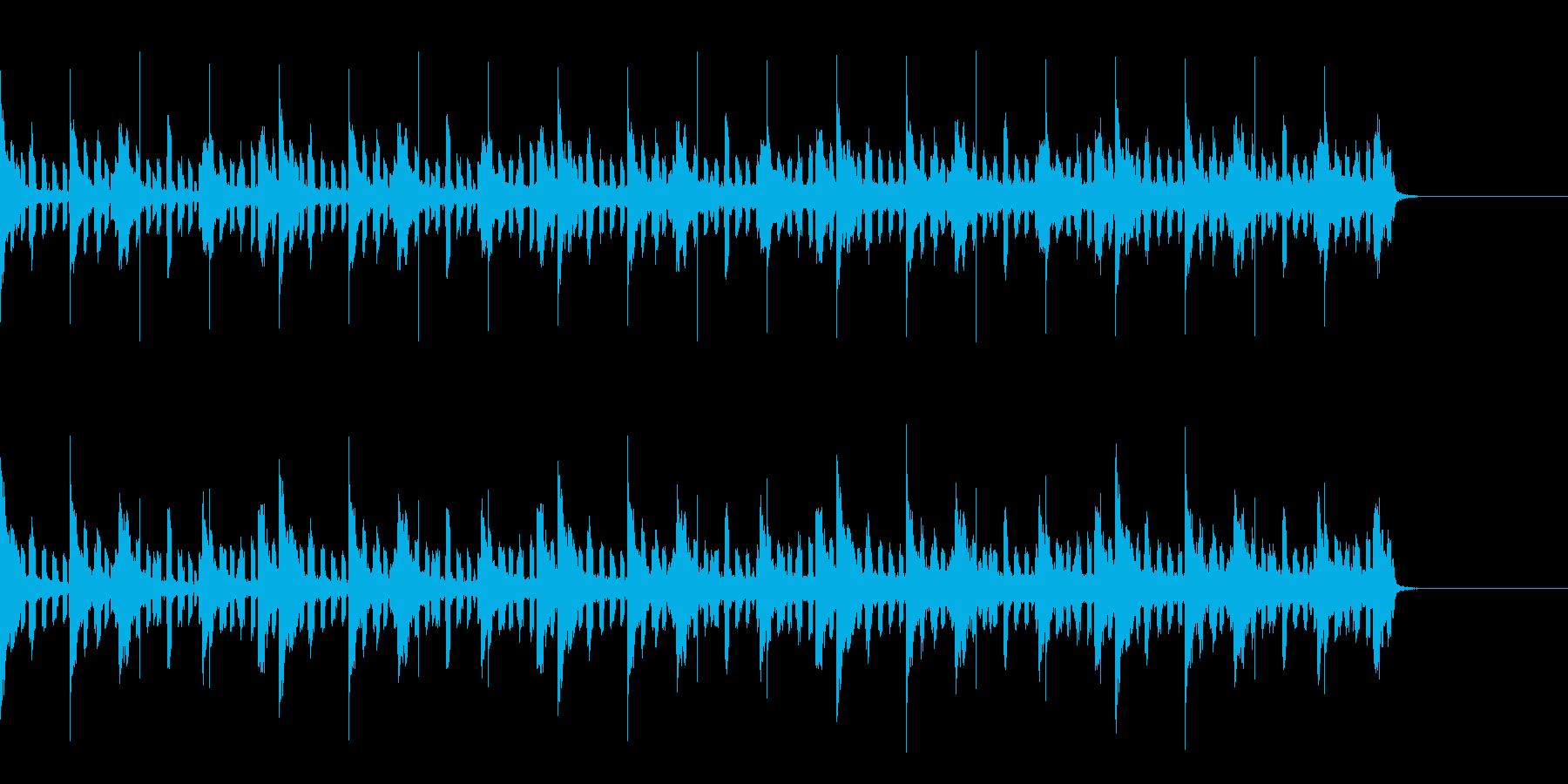 ピアノと電子音のジャズEDMサウンドの再生済みの波形