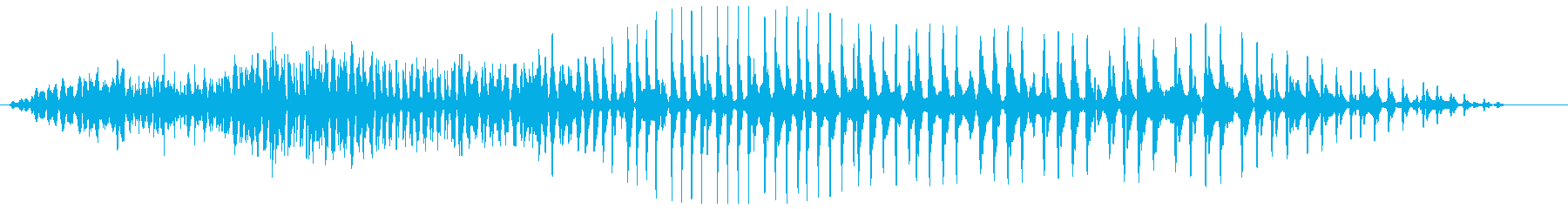 グオーン(低音の長めの効果音)の再生済みの波形