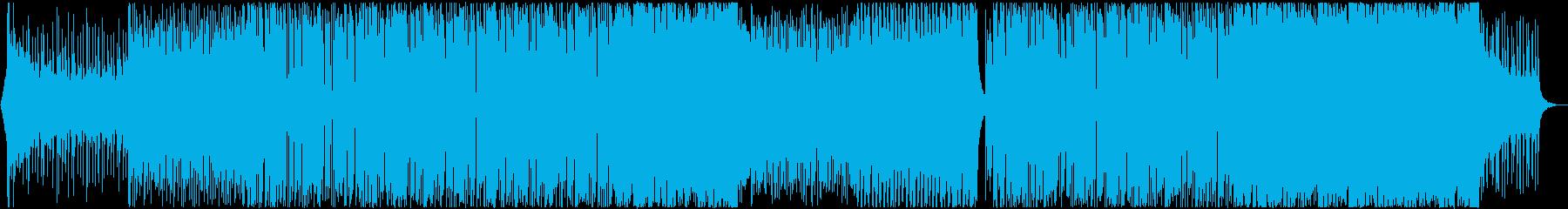 スタイリッシュなネオンフューチャーベースの再生済みの波形