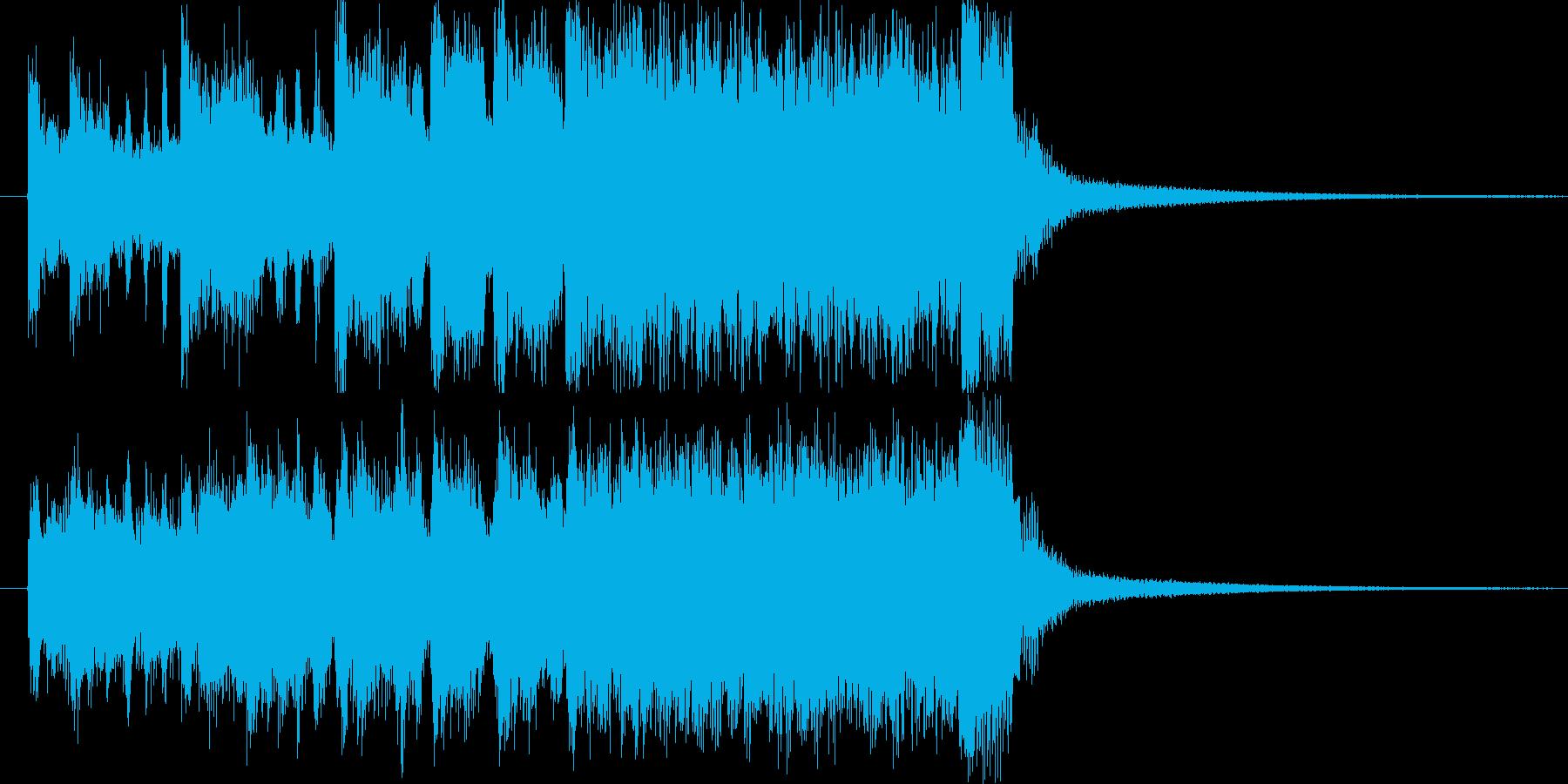 発表です!的なファンファーレの再生済みの波形