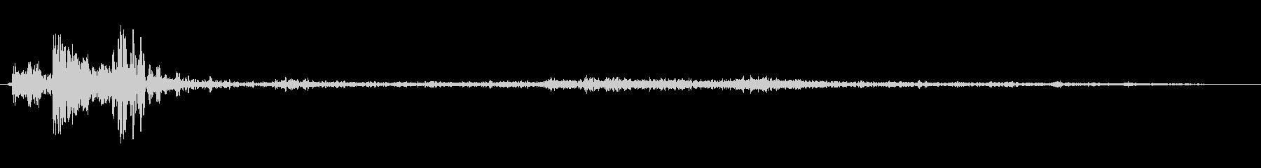 スポン(投げ込まれた音、栓抜きの音)の未再生の波形