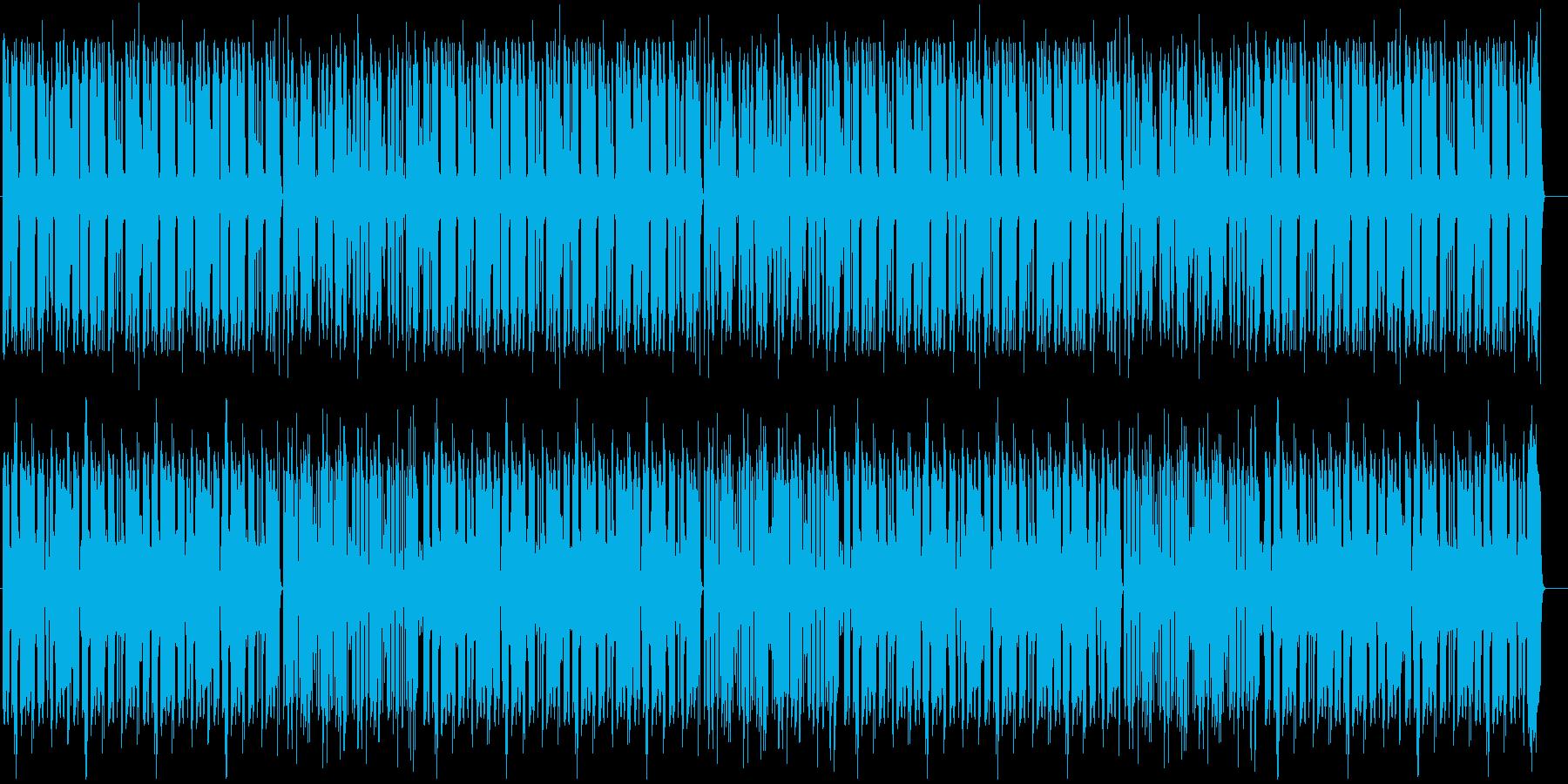 ほんわか脱力系、やる気がないリコーダーの再生済みの波形