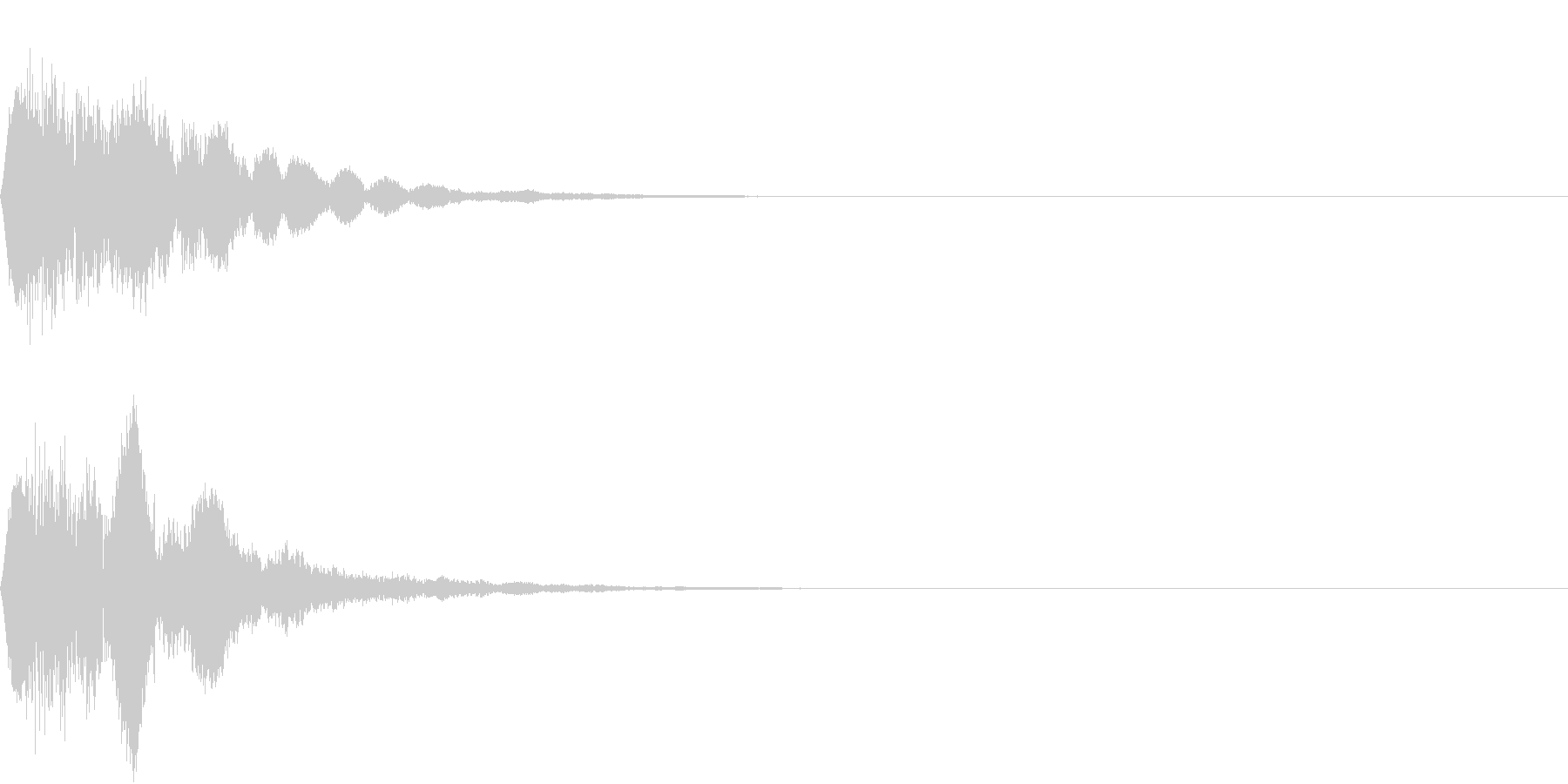 キュイン ボタン ピキーン キーン 19の未再生の波形