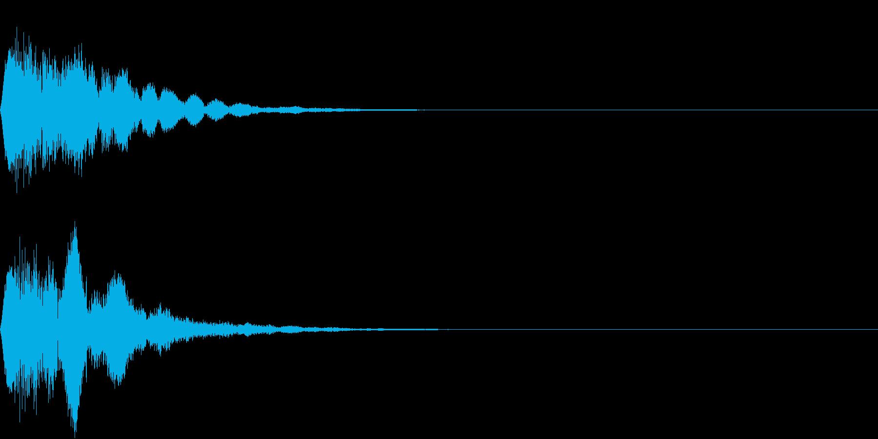 キュイン ボタン ピキーン キーン 19の再生済みの波形