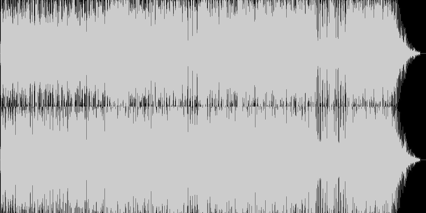 R&B風のJ-popバラードの未再生の波形