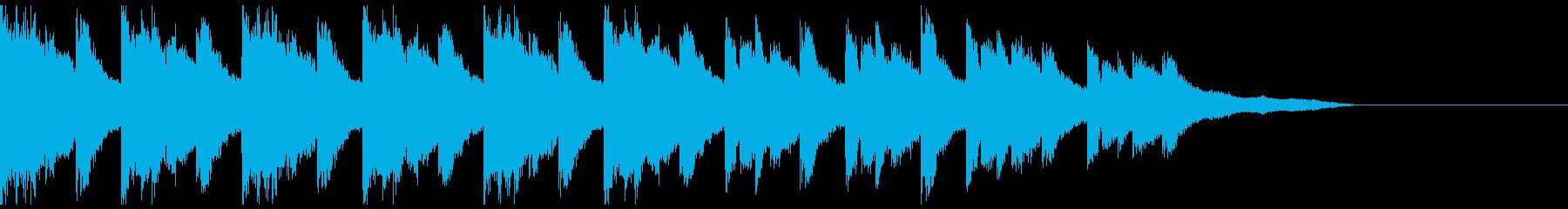 得体の知れない不気味なサスペンス風オケの再生済みの波形