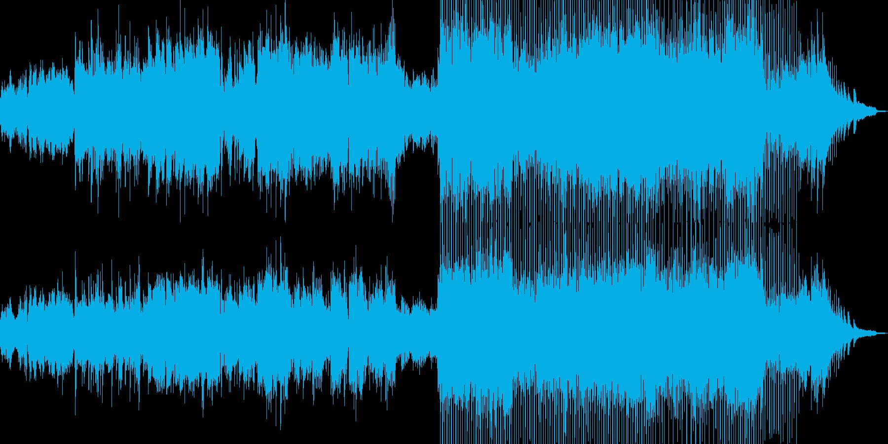 弦楽のクラシック・後半からポップスへの再生済みの波形